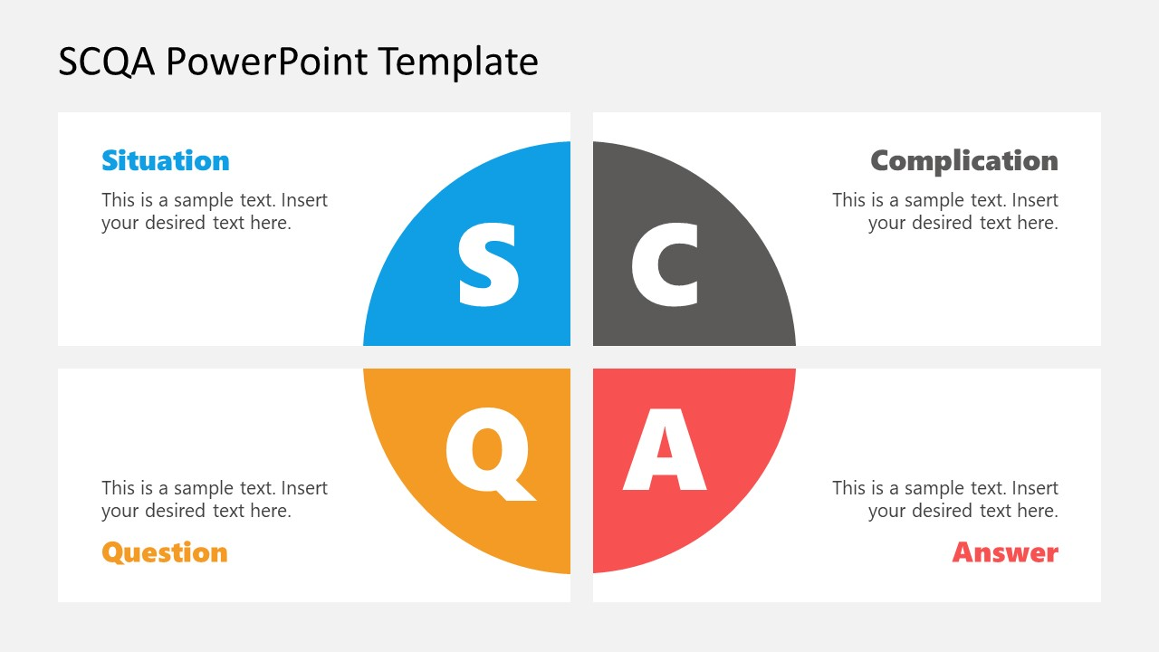 PowerPoint Matrix Diagram for SCQA