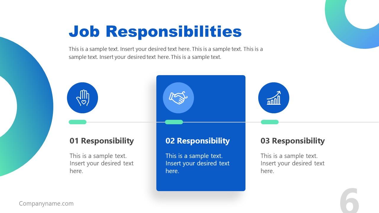 Presentation of Job Description Job Responsibility