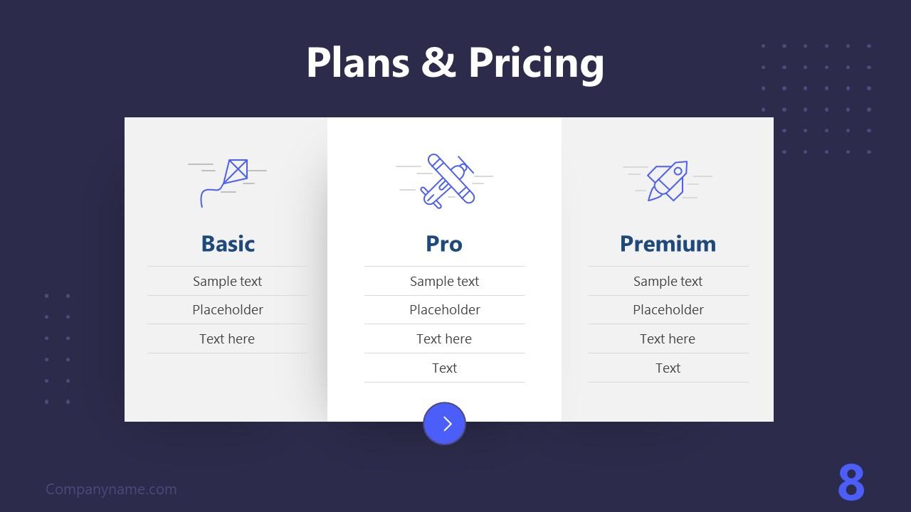 PPT Technology Proposal Pricing Plan Template