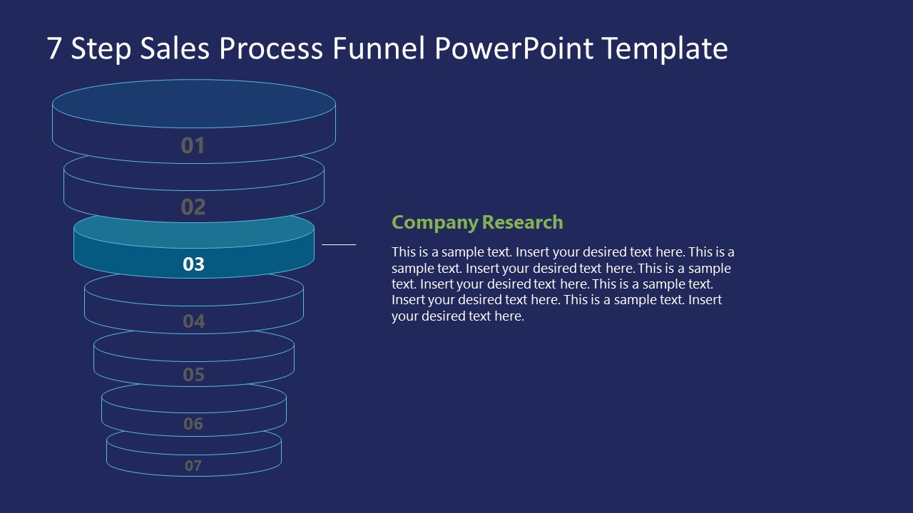 Funnel Sales Process Company Research Stage Template