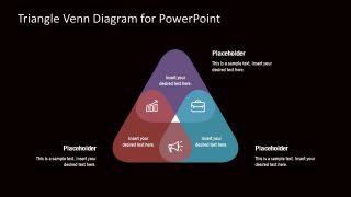 Venn Diagram PowerPoint Template Triangle Shapes