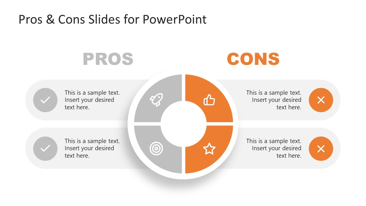PPT 4 Steps Template for Cons