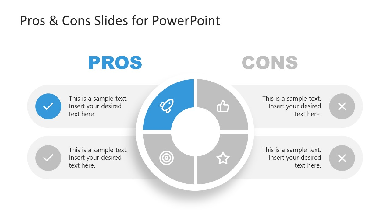 Presentation of 1 Advantage in Pros and Cons