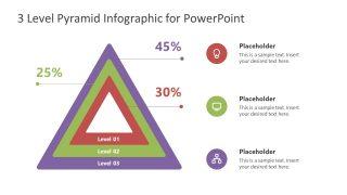 Presentation of Infographic Pyramid Diagram