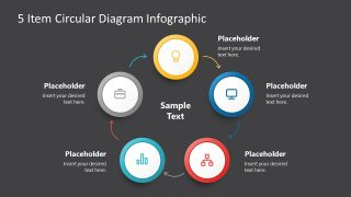 Presentation of 5 Steps Circular Segments