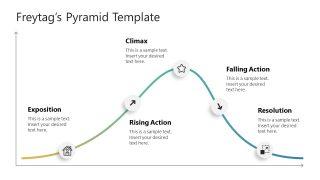 5 Steps Graph PowerPoint Freytag Pyramid