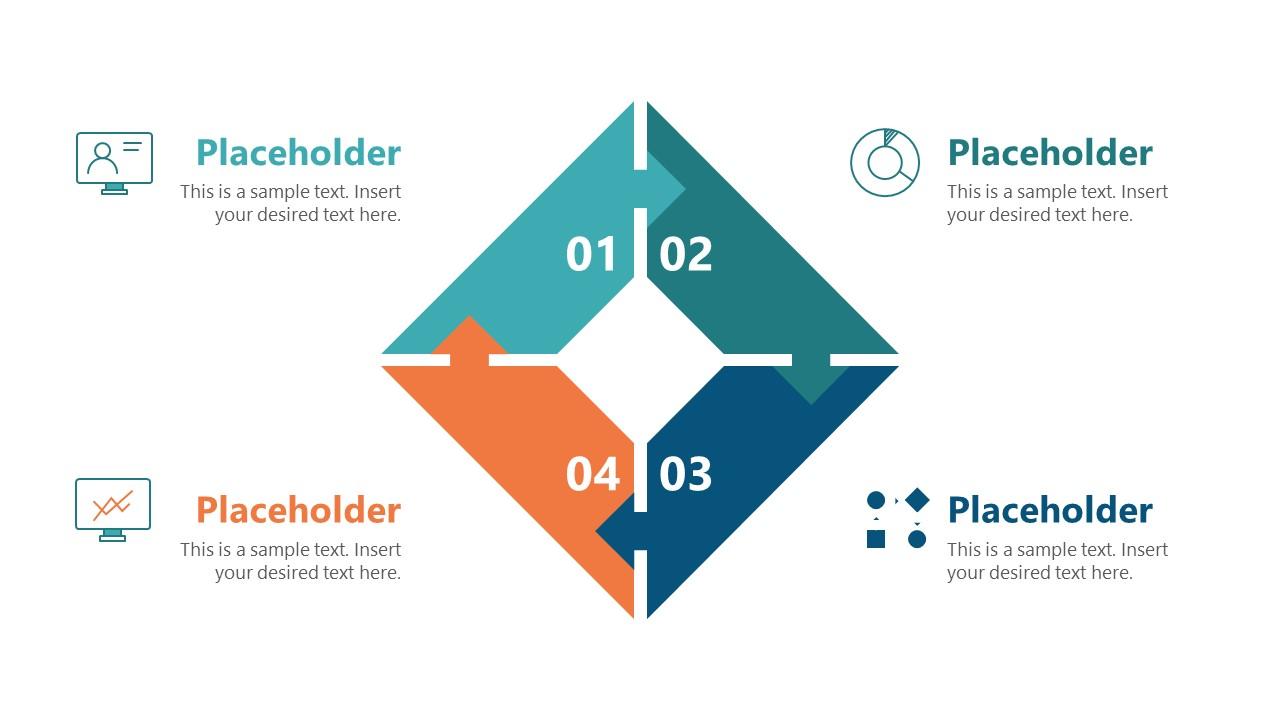 Presentation of 4 Steps Infographic Diagram