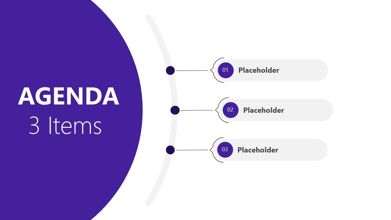 Presentation of 3 Steps Agenda PowerPoint