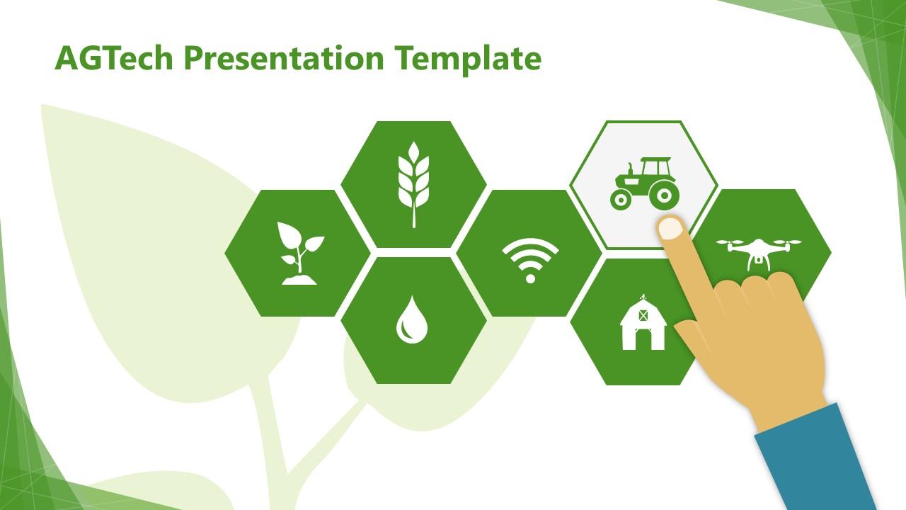 Template of Hexagon Segments for AGTech