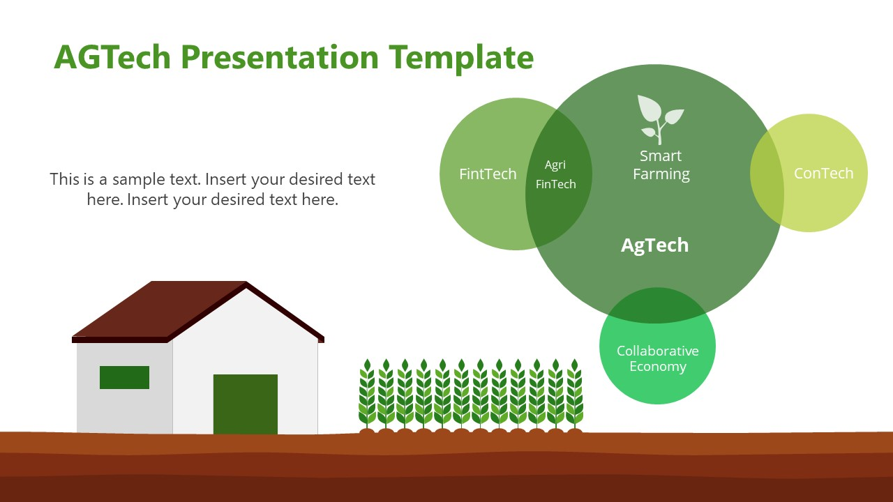 PowerPoint AGTech Barn and Crops Scene