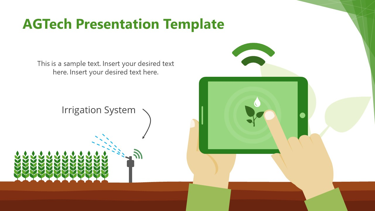 Illustration of Irrigation System Technology