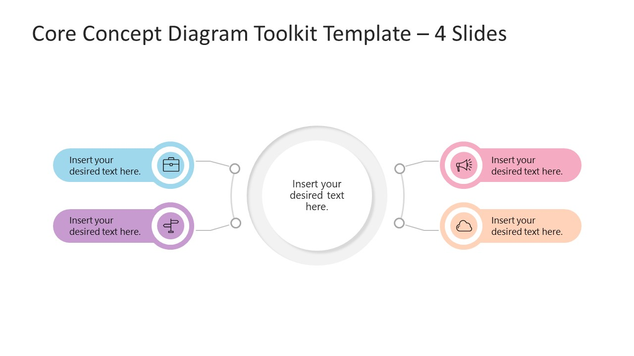 Core Concept Diagram Template Toolkit 4 Items