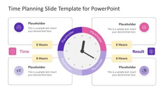 4 Steps Clock and Time Planning PPT