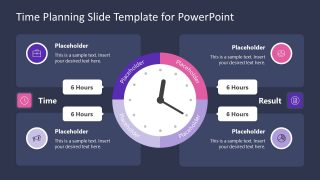 PowerPoint Clock Shape Diagram for Planning