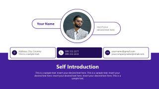 Business Team Self Introduction Slide