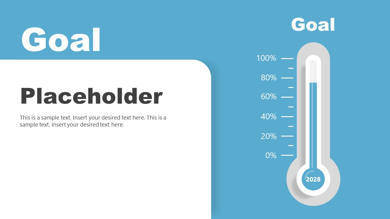PowerPoint Thermometer Goal Slide