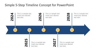 Simple 5-Step Timeline Concept for PowerPoint