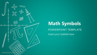 PPT Cover Page of Math Symbols