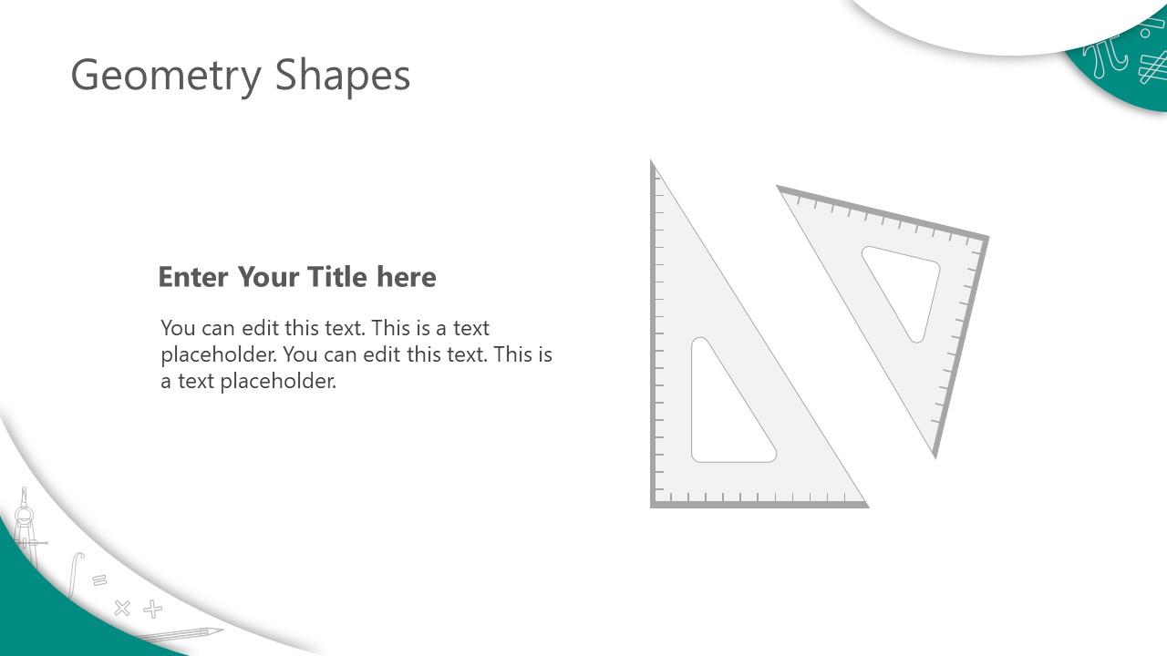 PowerPoint Shapes of Math Symbols Set Squares Clipart