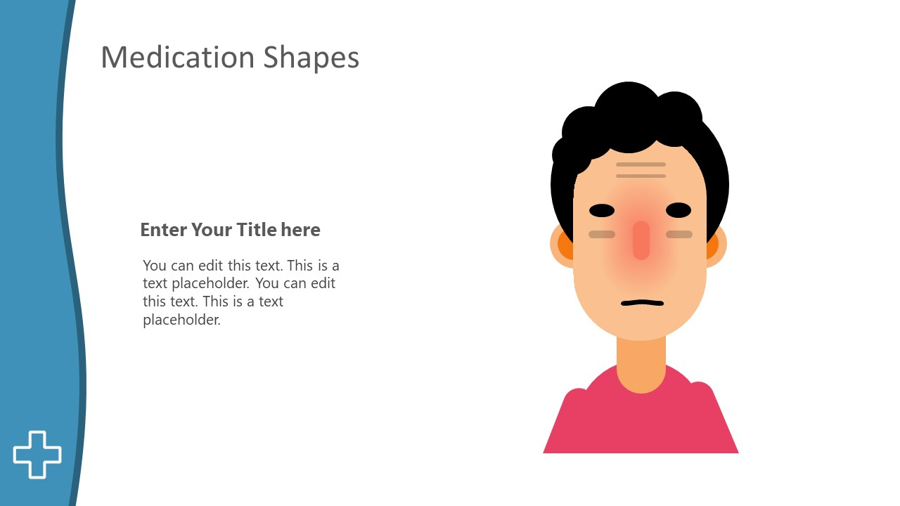 PowerPoint Scene Illustration of Sick Person