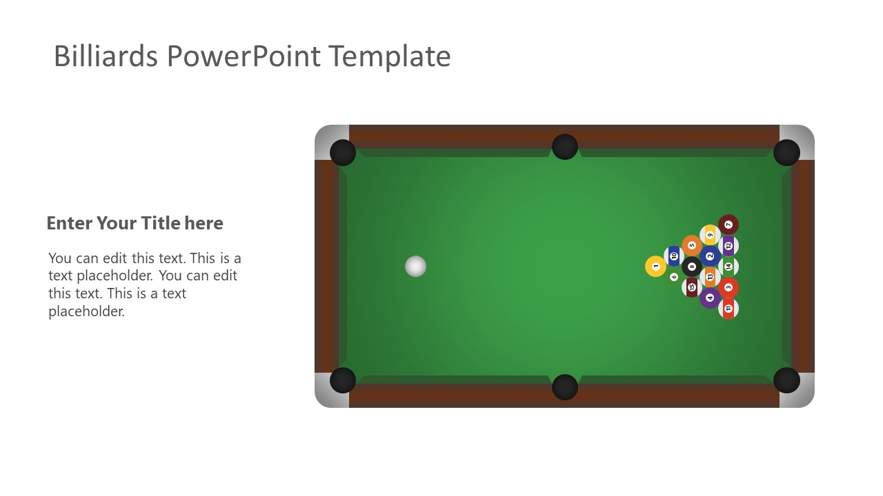 Editable PowerPoint Layout of Billiards