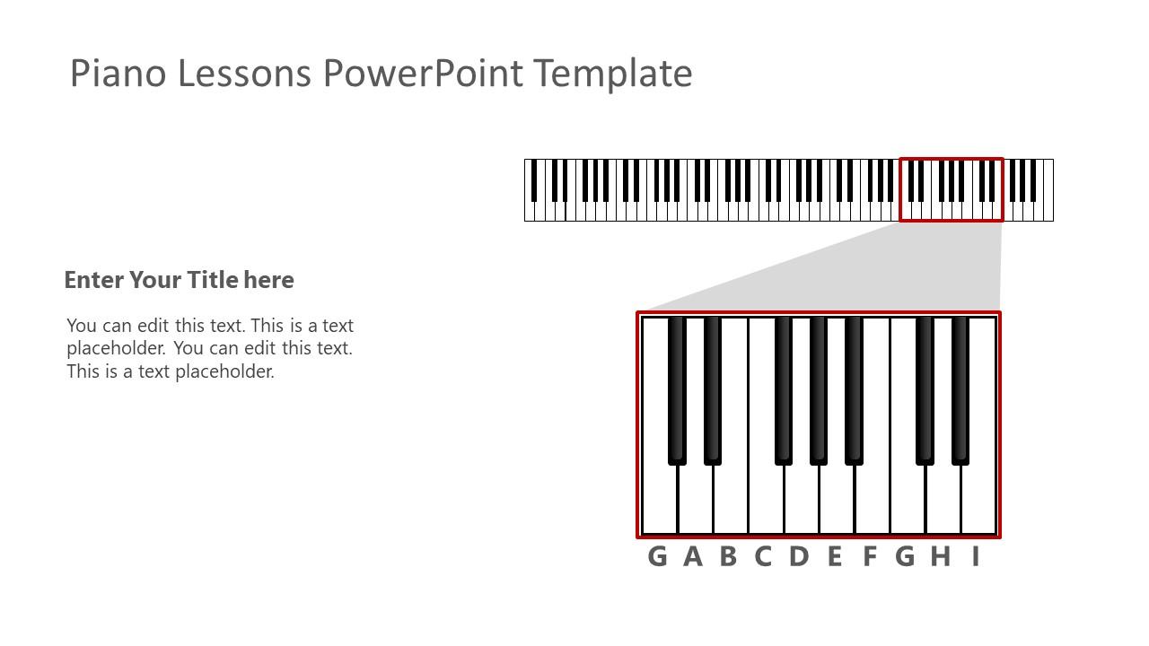 PowerPoint Piano Keyboard Illustration
