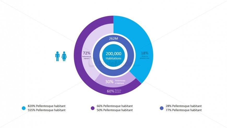 powerpoint editable pie chart animated infographics slidemodel