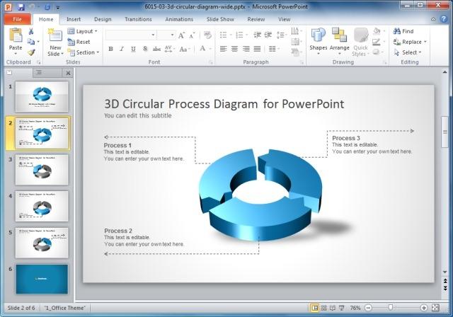 3 Step Circular Diagram Template