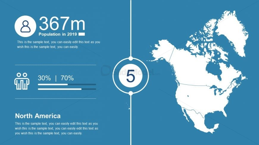 North America Map PowerPoint Presentation