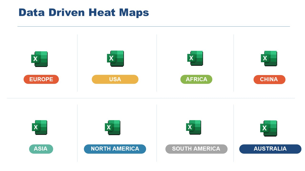 Bundle of Heat Maps Data Driven Template
