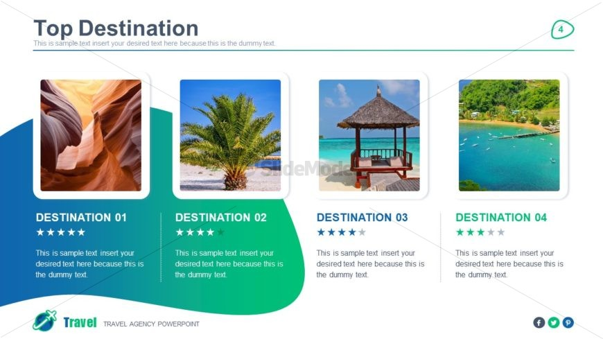 Tourism PowerPoint Infographic Template