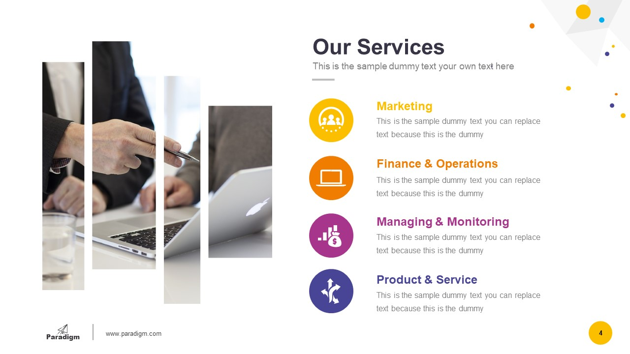Presentation of Business Services