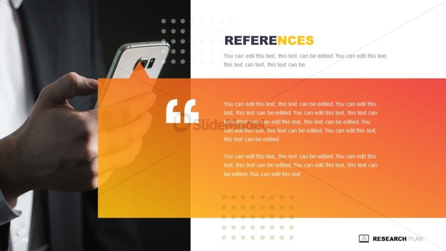 Research Plan Presentation References