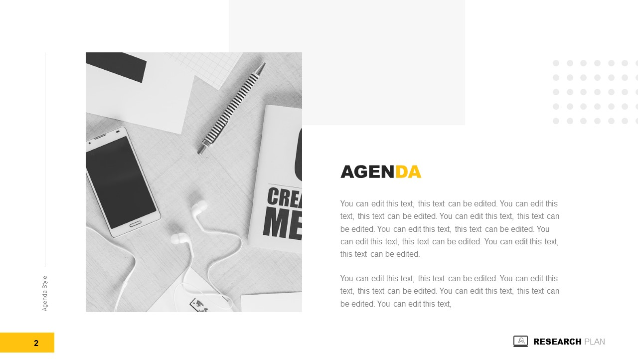 Two COntents Layout Agenda Template