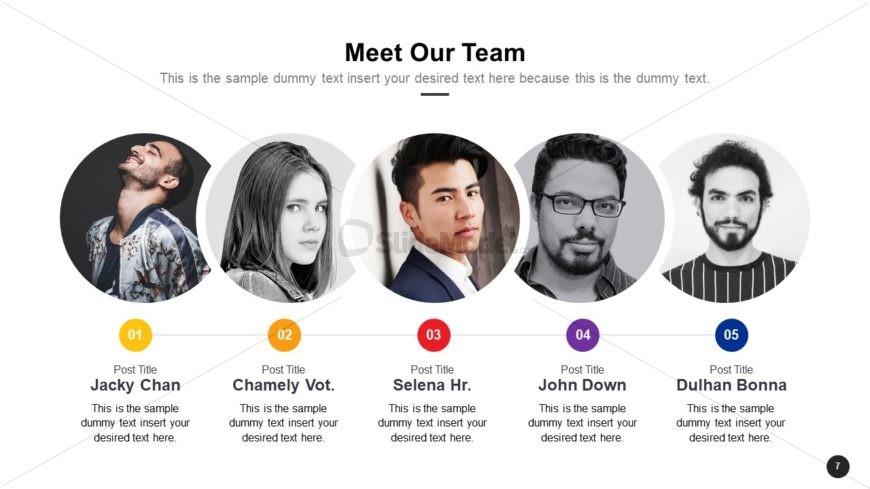 Cutout Team Profile PowerPoint