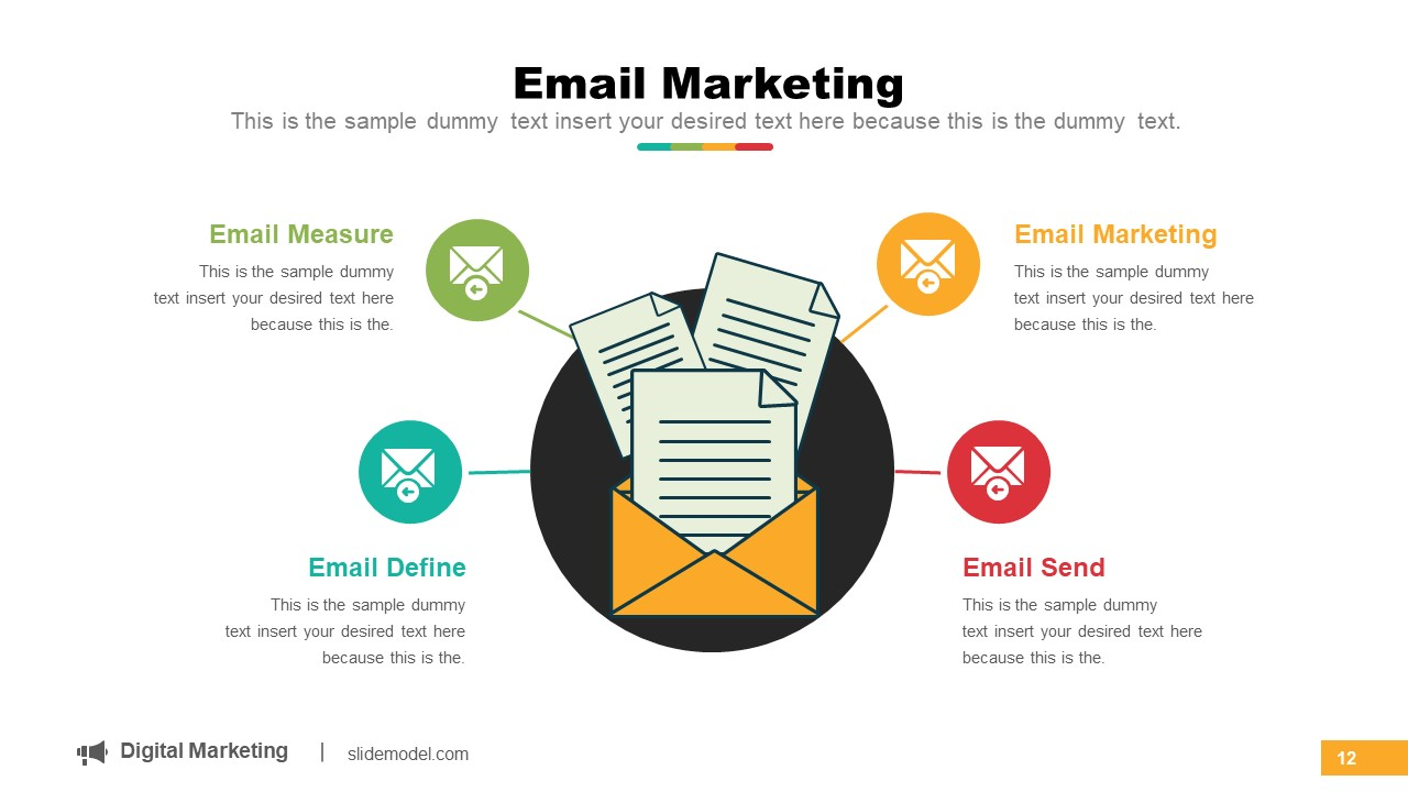 Email Shapes of PowerPoint