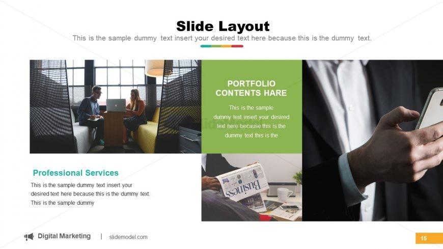 Portfolio Gallery PowerPoint Layout
