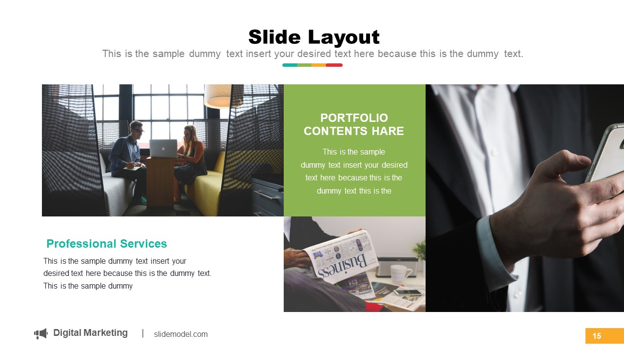 Portfolio Gallery PowerPoint Layout