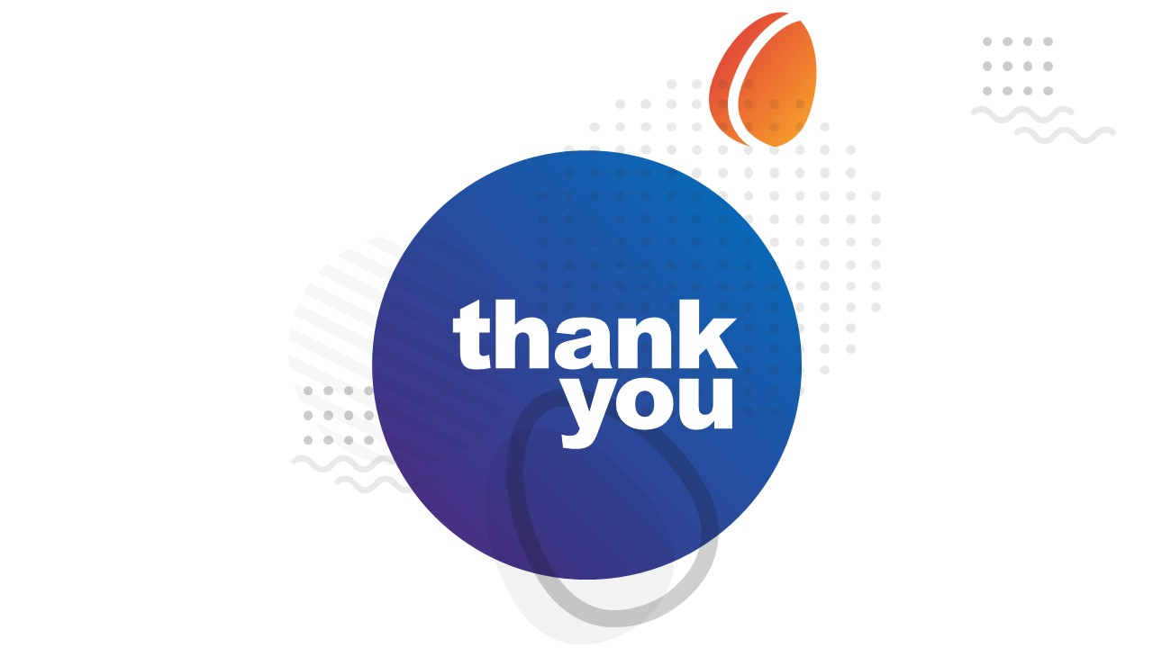 Thank You Note Slide Digital Marketing