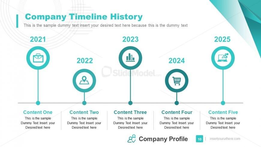 Horizontal Timeline Template of Company