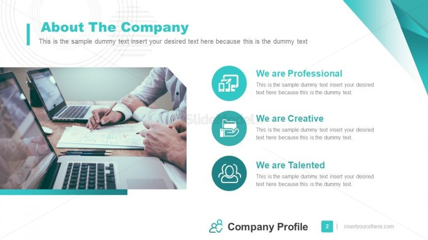 PowerPoint Company Information Agenda Template
