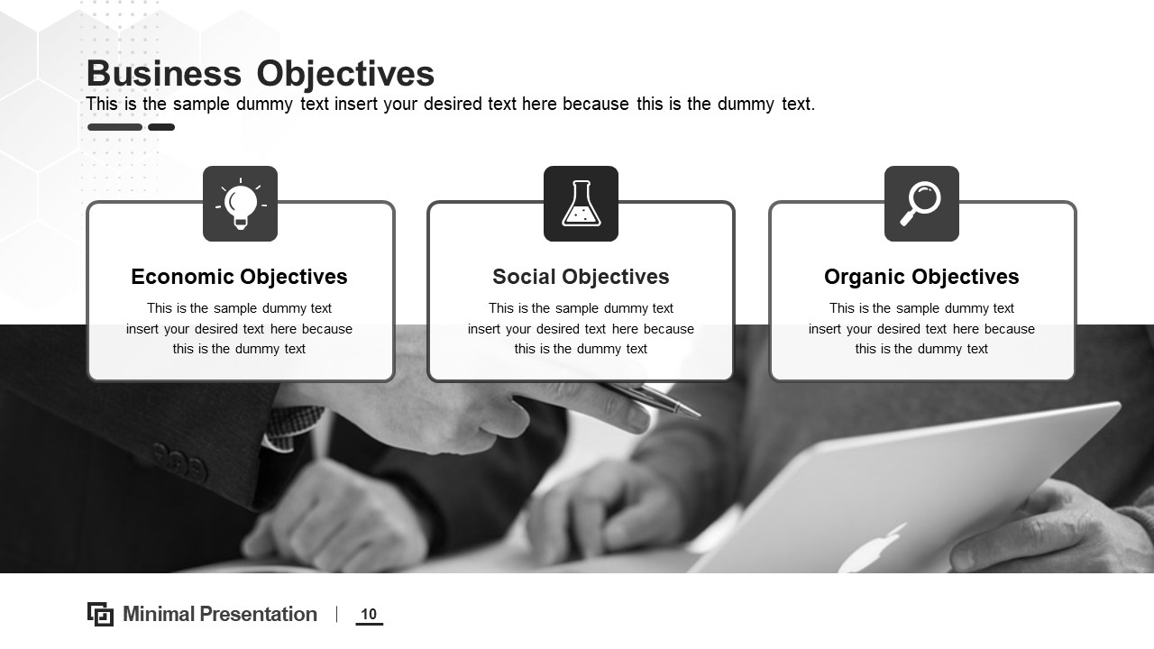 PPT Business Objectives Design