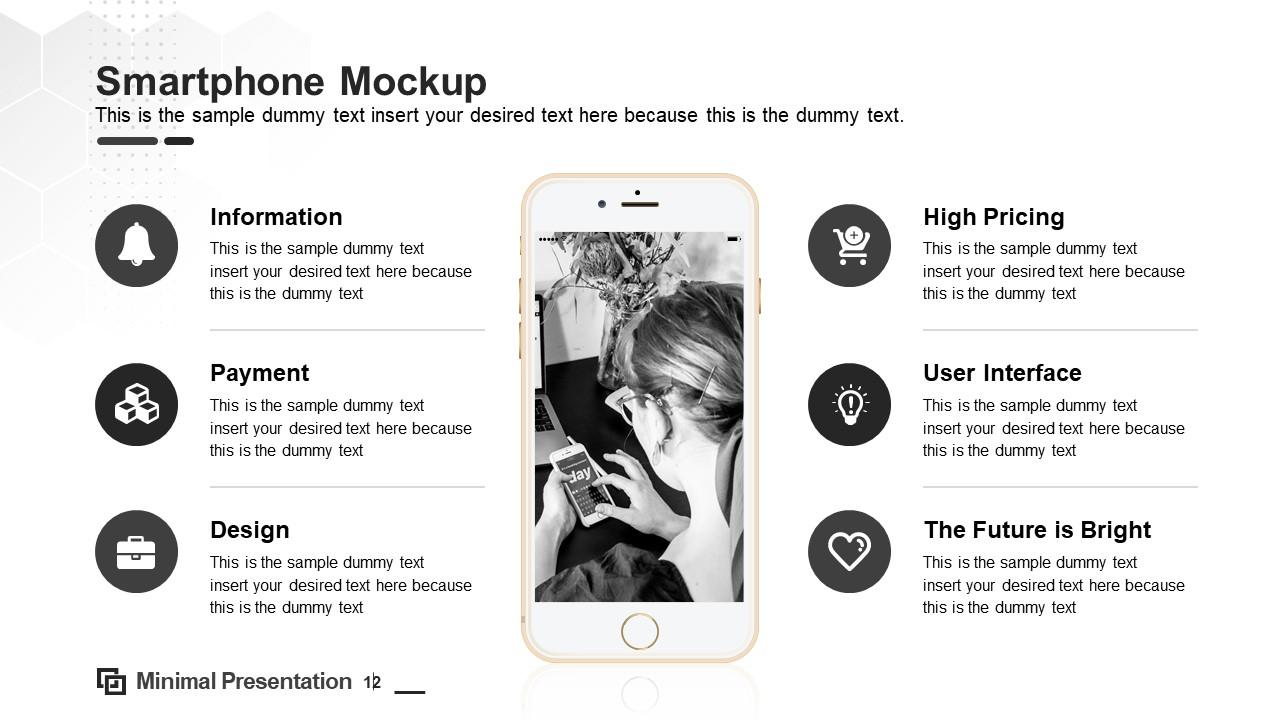 Minimal Layout of Smartphone Mockup