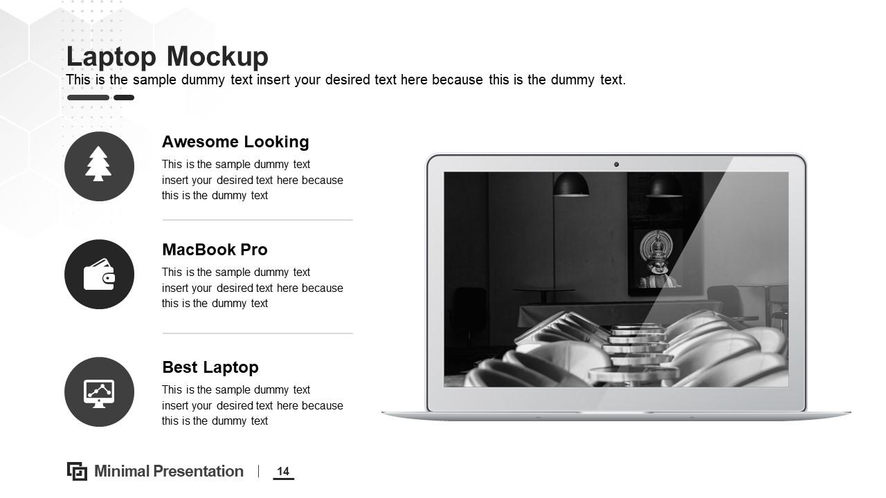 Minimal Layout of Laptop Mockup