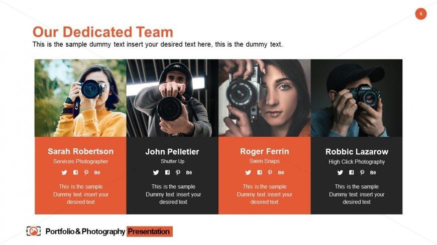Portfolio & Photography Dedicated Team