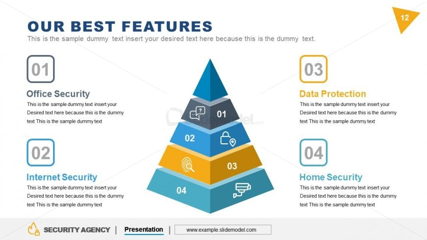 3D Pyramid PowerPoint Security Agency