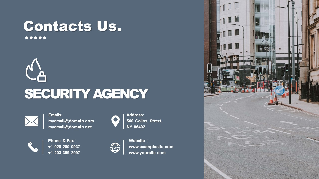 Security Agency Contact Information Layout
