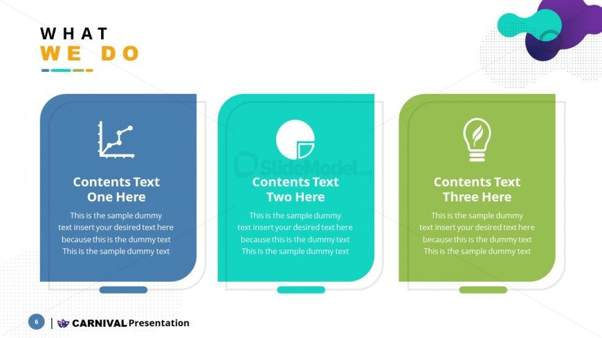 Infographic PowerPoint 3 Sections