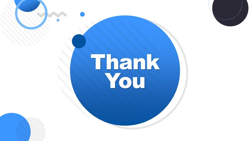 Thank You Slide of Business Deck