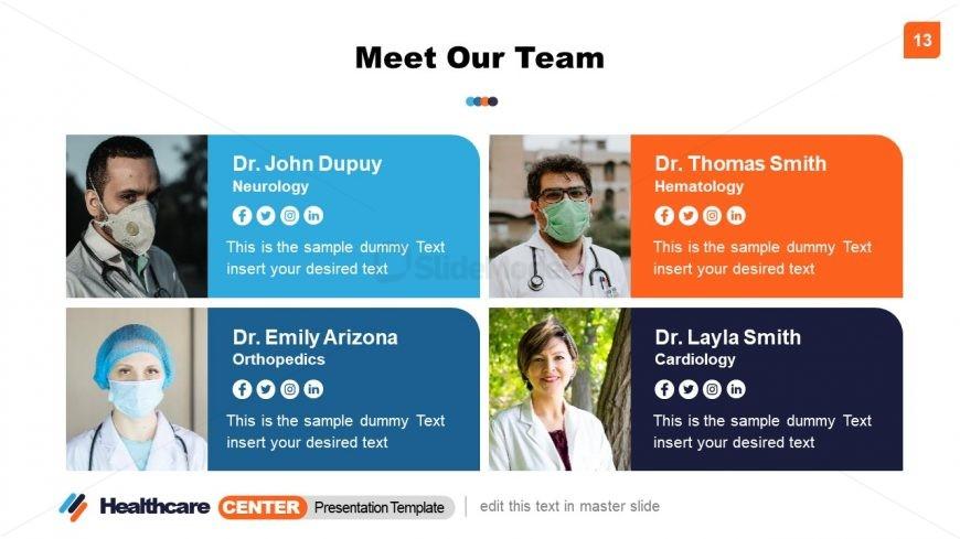 Team Profile in Healthcare Center Presentation